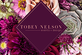 tobey nelson events and design logo