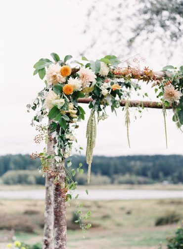 Arbor floral detail | by Tobey Nelson Events + Design | image by O'Malley Photography
