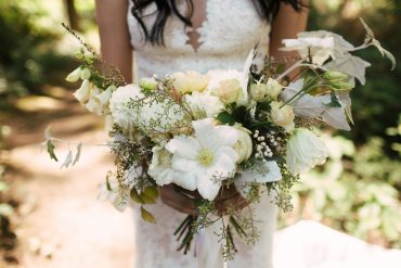 bridal bouquet with locally grown flowers