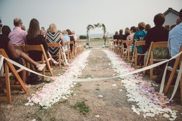 wedding ceremony arbor and aisle
