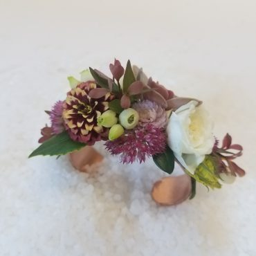 Bracelet style corsage for wedding, prom or homecoming