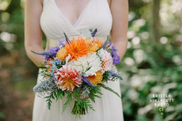 Summer wedding Dahlia bouquet | Tobey Nelson Events + Design | image by Kristen Honeycutt