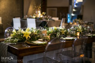 Contemporary flower arrangements with Lily and Anomene | Tobey Nelson Events + Design | image by Laura Marchbanks