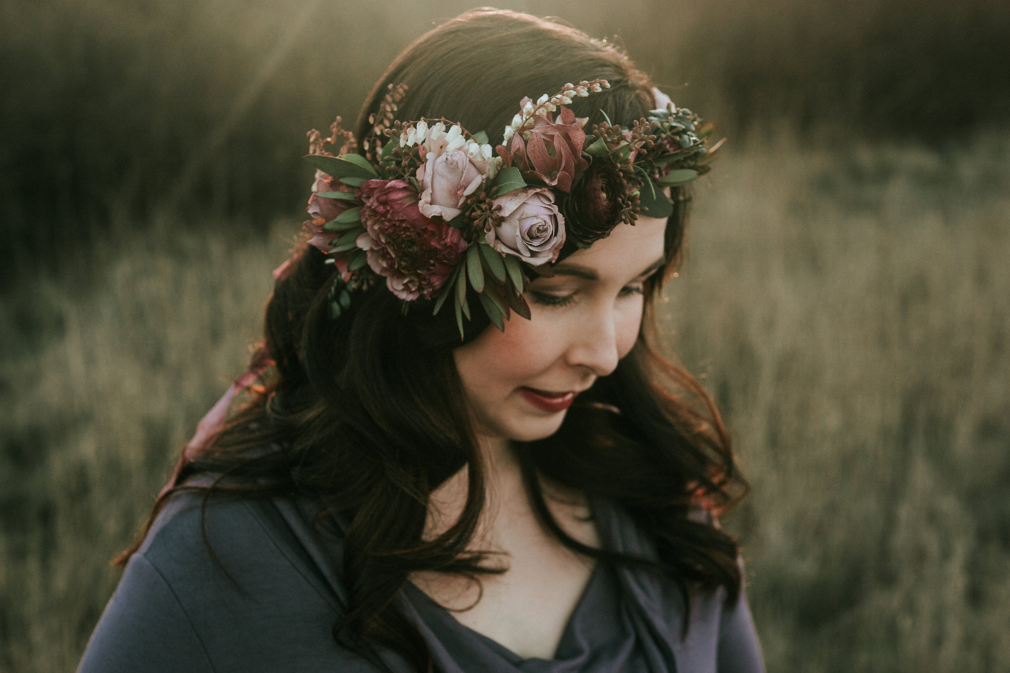 Flower Crown For Whidbey Island Maternity Shoot By Tobey Nelson Events Image By Team Shaw Photography 6 Tobey Nelson Weddings Events