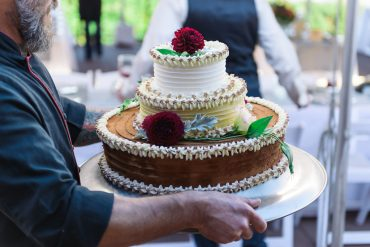 wedding cake by the Roaming Radish