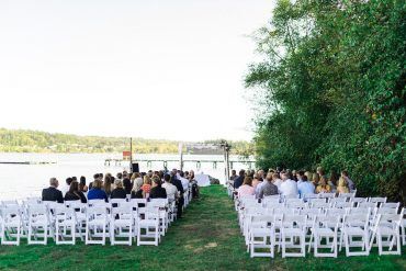 whidbey island waterfront wedding ceremony arch