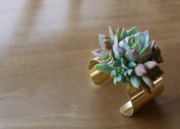 Succulent cuff bracelet - a great corsage alternative