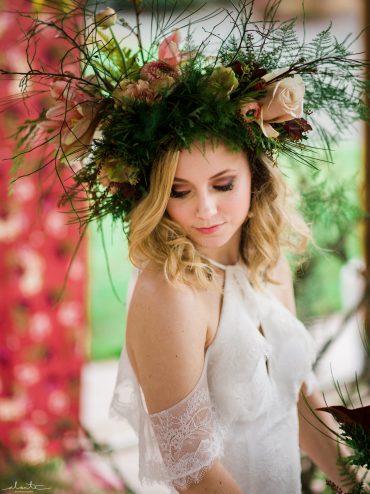 Bridal headdress floral crown
