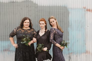 badass bridesmaids with badass bouquets