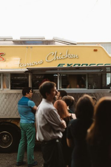 food truck at seattle gay wedding
