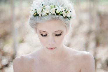 Flower crown for a bride with white flowers