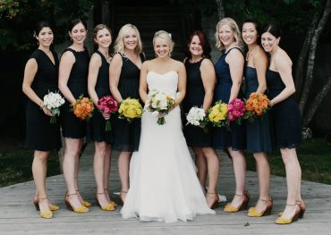 monofloral bridal party bouquets by Tobey Nelson Events and Design