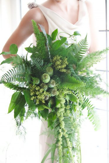 Greenery bridal bouquets