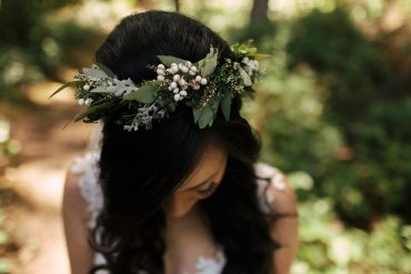 Flower crown made with Tallow berries and foliage