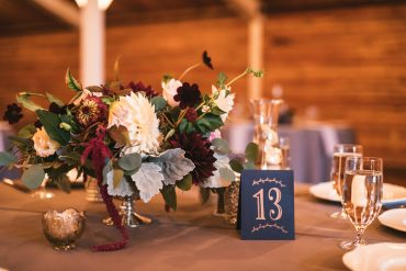 Whidbey Island wedding flowers include Cafe Au Lait Dahlias, berry colored Chocolate Cosmos