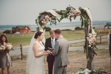 Wedding Arbor for Whidbey Island Wedding at Crockett Barn by Tobey Nelson Events and Design