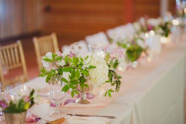whidbey island wedding centerpiece