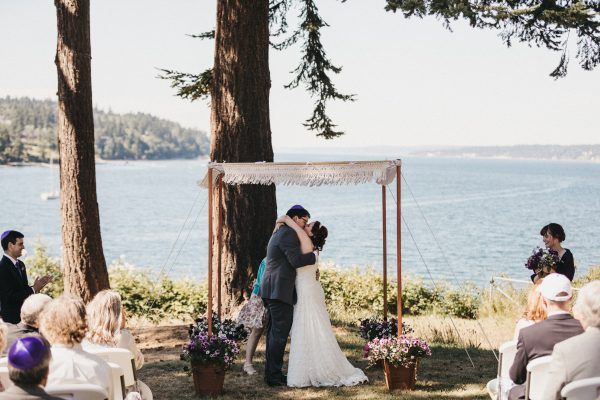 Jewish wedding at Freeland Hall on Whidbey Island