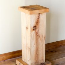 Wood pedestals for whidbey island wedding rental