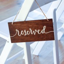 whidbey island wedding rentals reserved sign