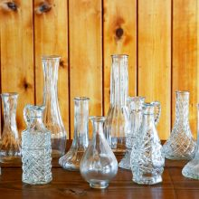 Whidbey Island wedding rentals Heirloom bud vase collection