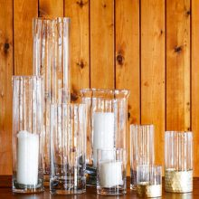 Whidbey Island wedding rentals Glass cylinders