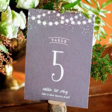 Whidbey Island wedding rentals wood card holder