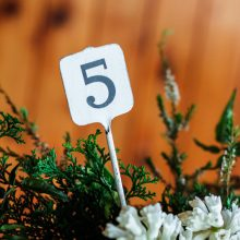 Whidbey Island wedding rentals metal table numbers