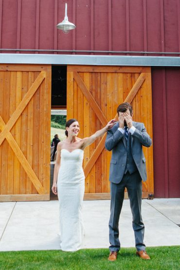 First look at a whidbey island barn wedding