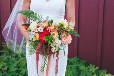 Bridal bouquet with Dahlia and Chrysanthemum