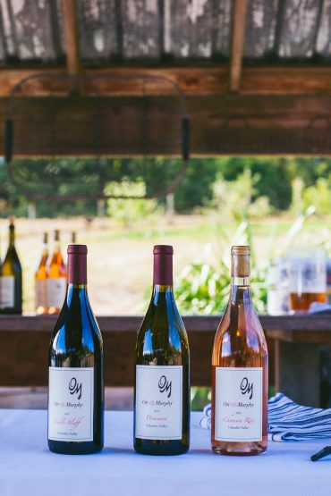 Wine by Ott and Murphy for Whidbey Island Wedding