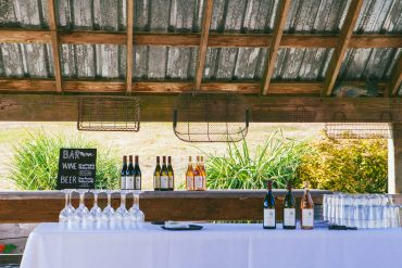 Bar for Whidbey Island Wedding Reception