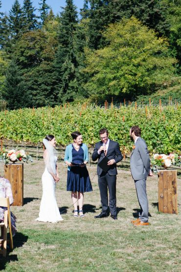 Slow Wedding at Dancing Fish Vineyards on Whidbey Island