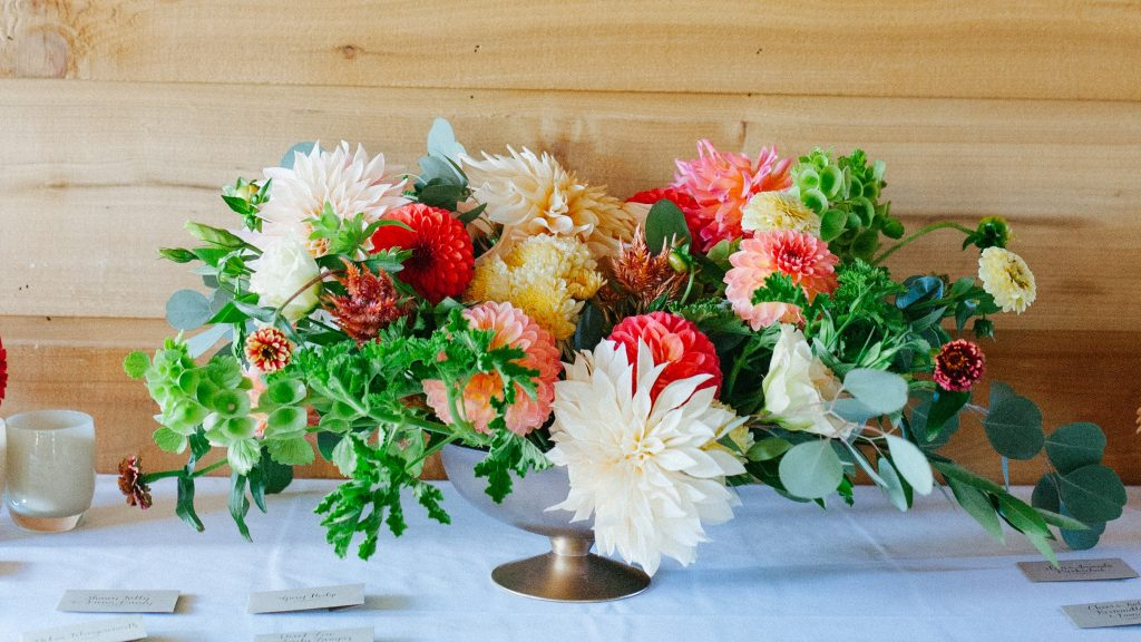 Choose locally grown flowers for your wedding