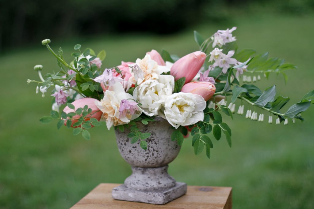 Spring flower design class on Whidbey Island