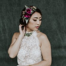 Floral wearables made at Whidbey FLower Workshop by Kirby Rogic The Flowerhouse