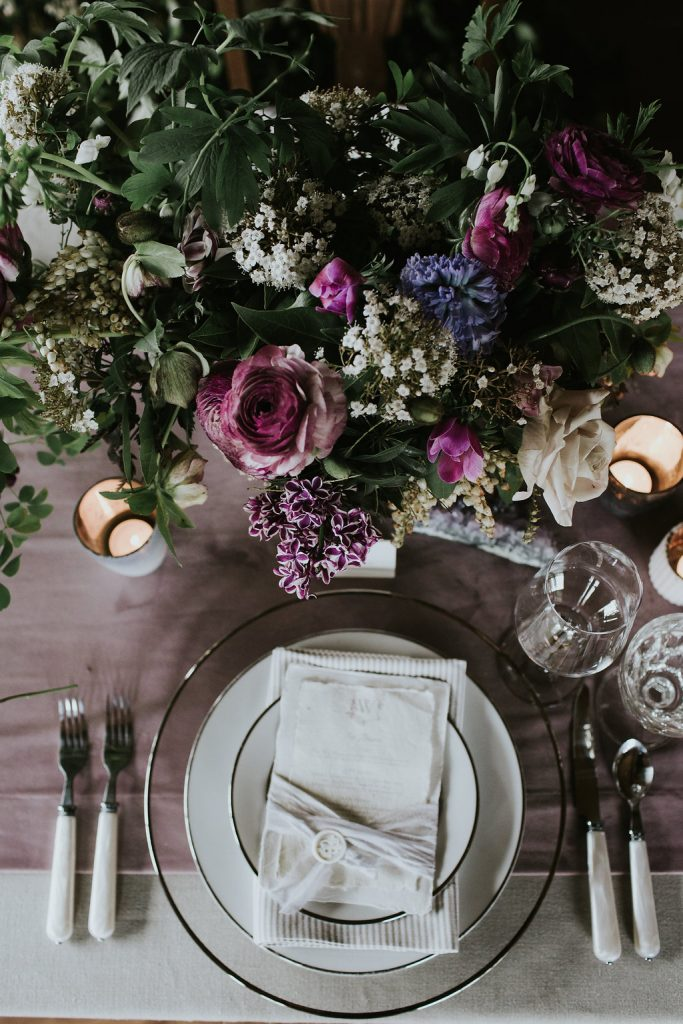 tablescape at Whidbey Flower Workshop by Tobey Nelson Events and Design