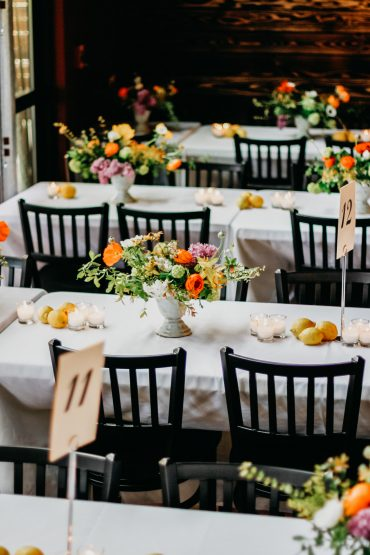 tablescape and centerpiece by Tobey Nelson Events on Whidbey Island