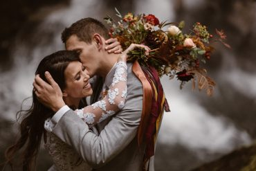 Mt. Ranier destination elopement flowers