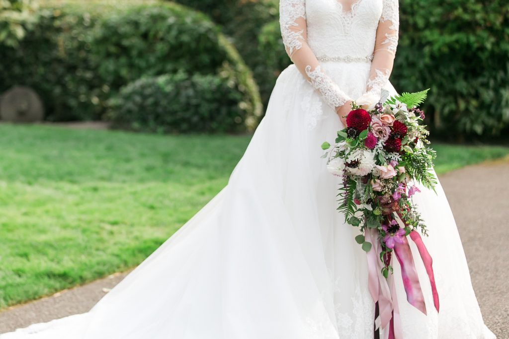 Woodinville Wedding Flowers by Tobey Nelson | bridal bouquet in violet, plums and lavender
