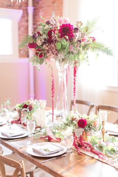 Elevated centerpiece by Tobey Nelson Events