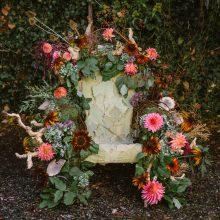 Botanical Throne Floral Chair