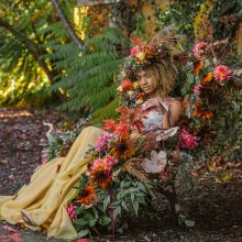 Editorial Shoot with autumn flowers