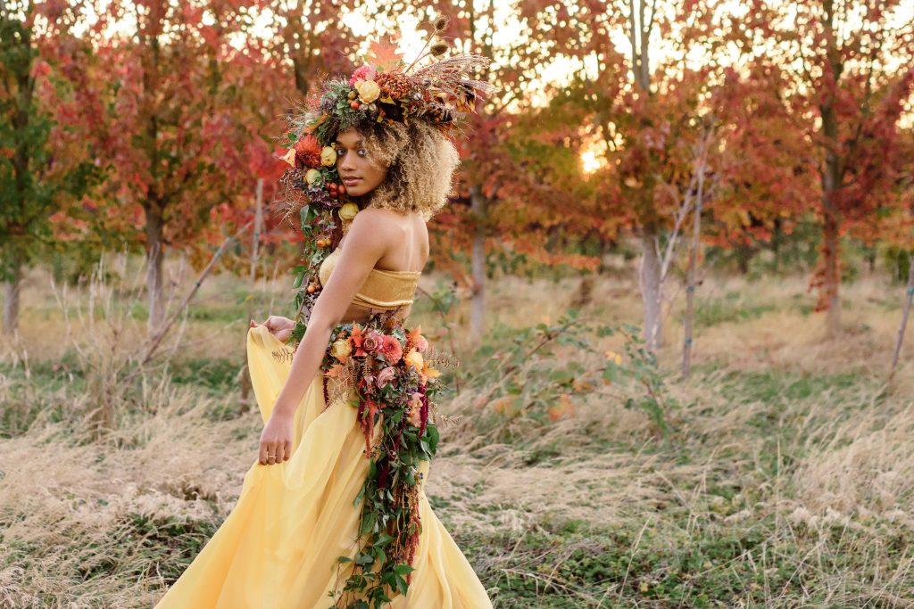 Floral Art & Flower Wearables Botanical Bustle