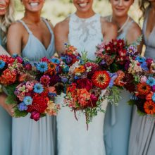 Jewel-Toned Summer Wedding Flowers Bridesmaid bouquets for Whidbey Island Wedding | Tobey Nelson Events