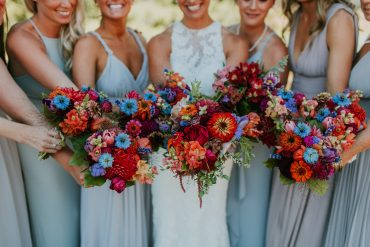 Bridesmaid bouquets | Whidbey Island Wedding | Tobey Nelson Events | Big Day Photography