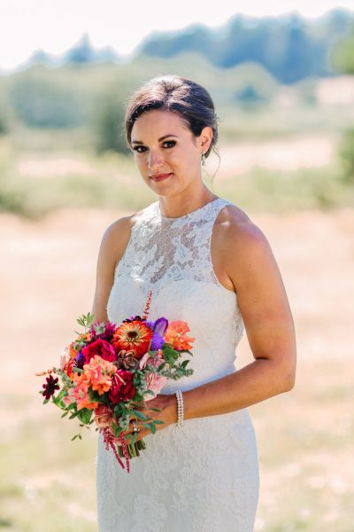 Summer wildflower wedding bouquet | Whidbey Island Wedding | Tobey Nelson Events | Big Day Photography