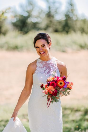 Bridal bouquet with locally grown flowers | Whidbey Island Wedding | Tobey Nelson Events | Big Day Photography