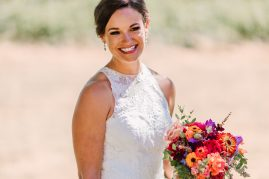 Jewel-Toned Summer Wedding Flowers