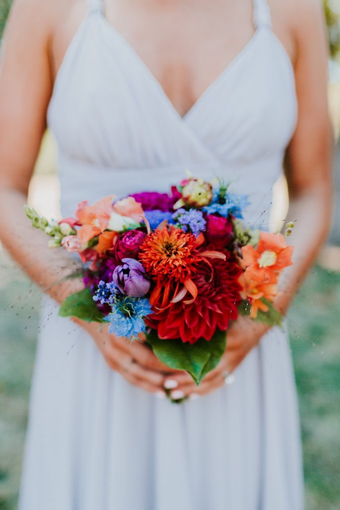 Jewel Tone Bridal Party Flowers Tobey Nelson Weddings Events